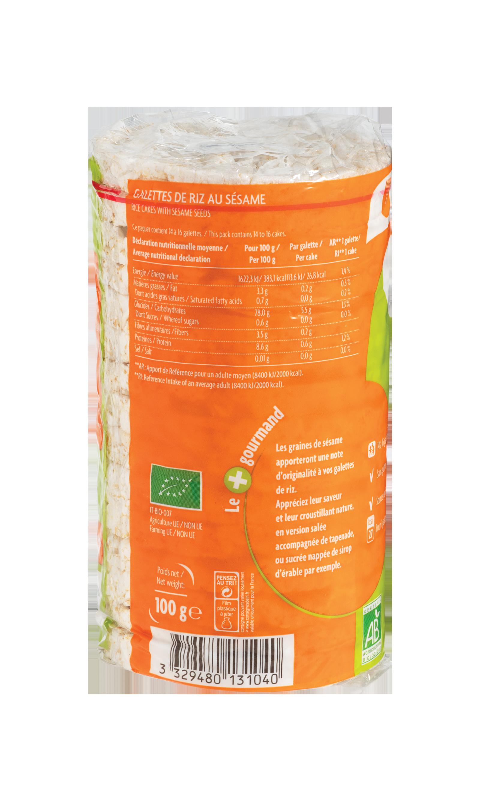 Galettes de riz au sésame