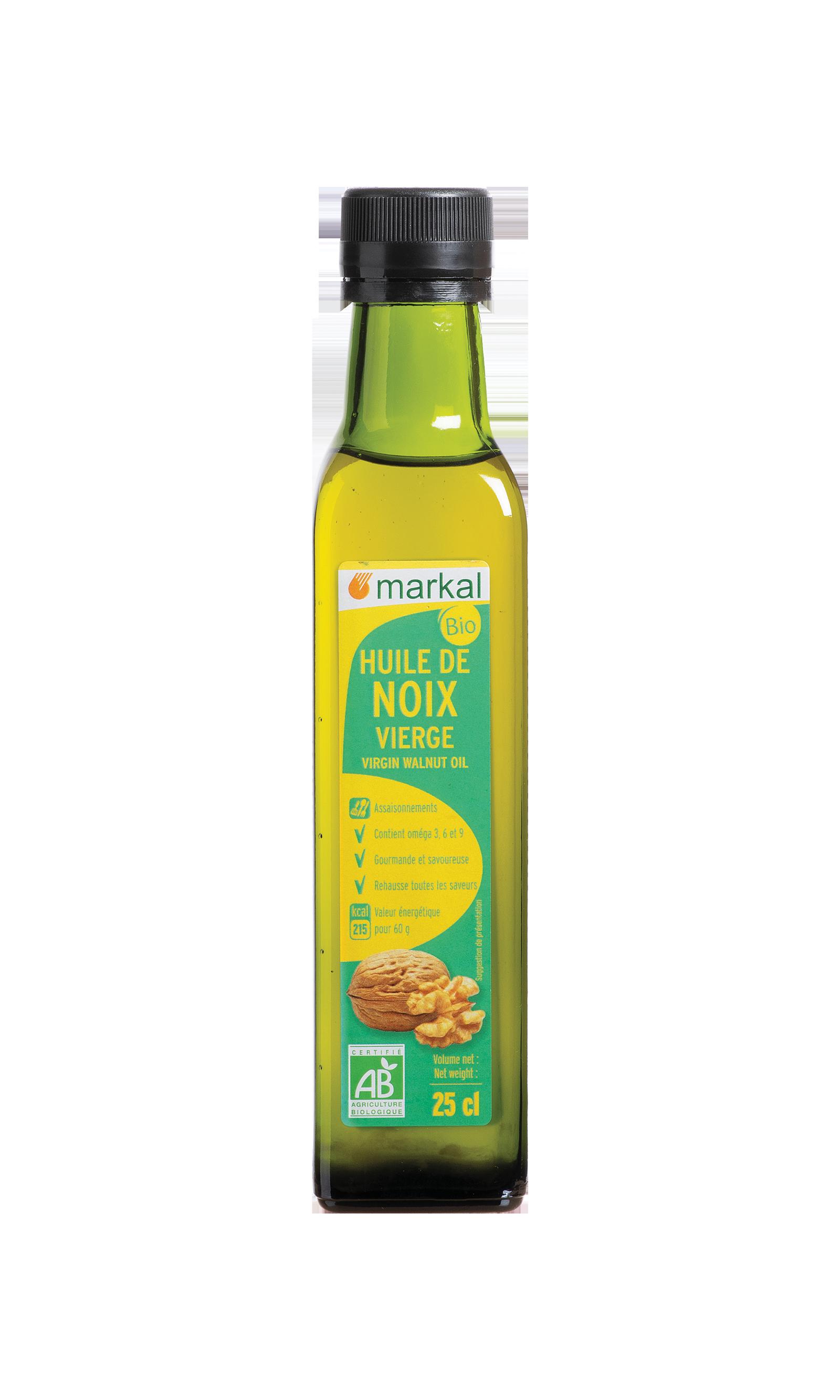 Huile de noix vierge - Issue de la zone d'AOC noix de Grenoble