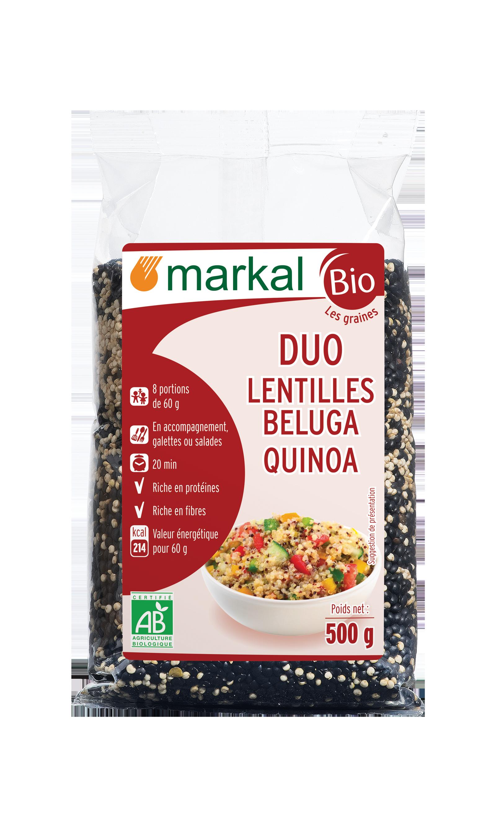 Duo lentilles beluga -quinoa