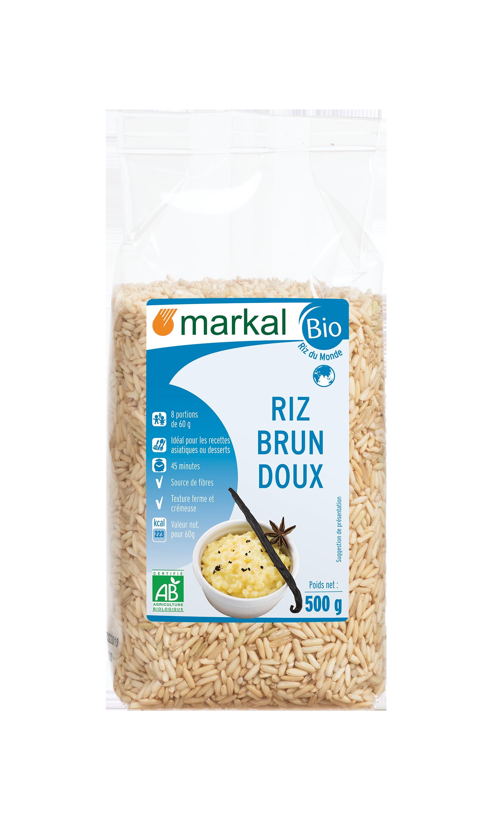 Riz brun doux - glutineux
