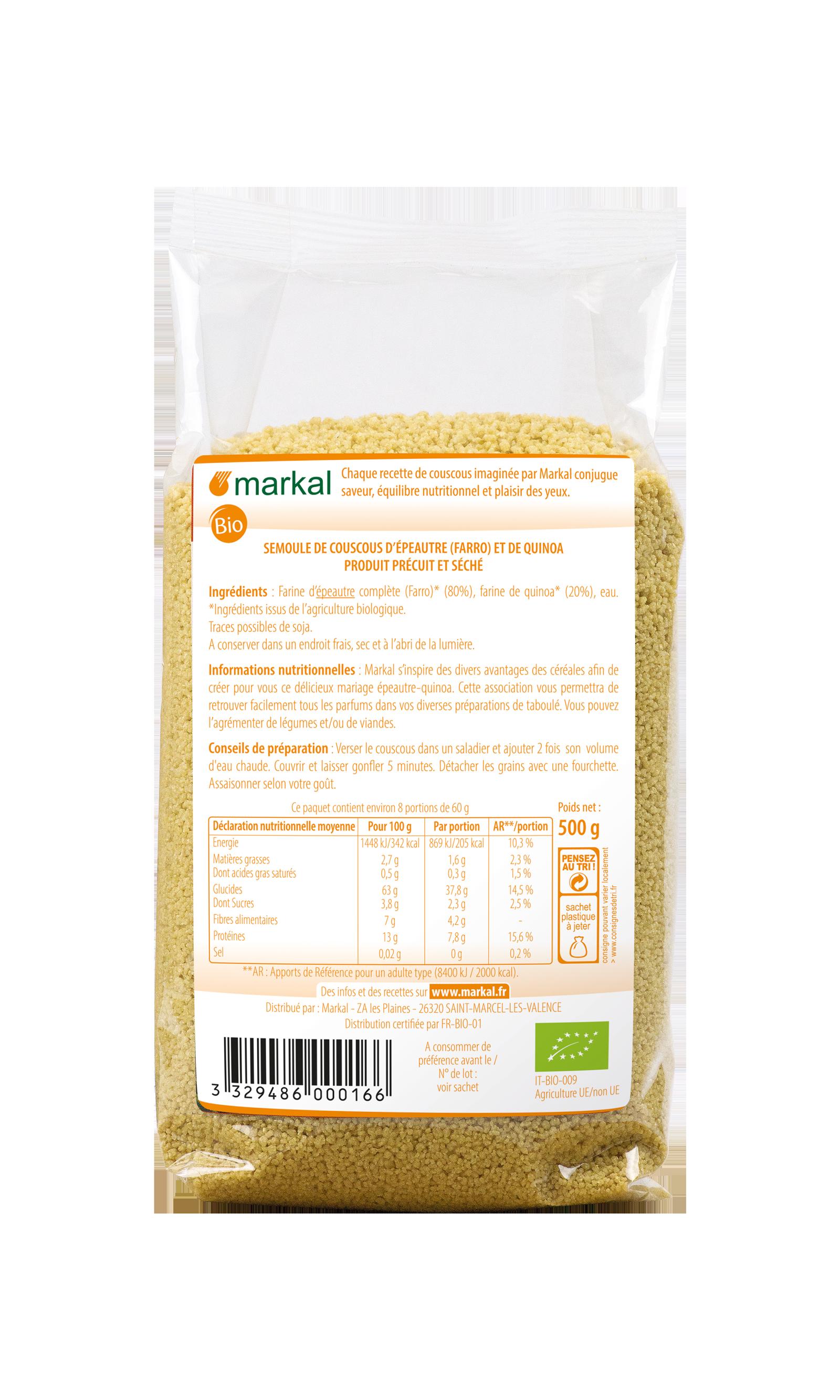 Couscous quinoa - farro (épeautre)