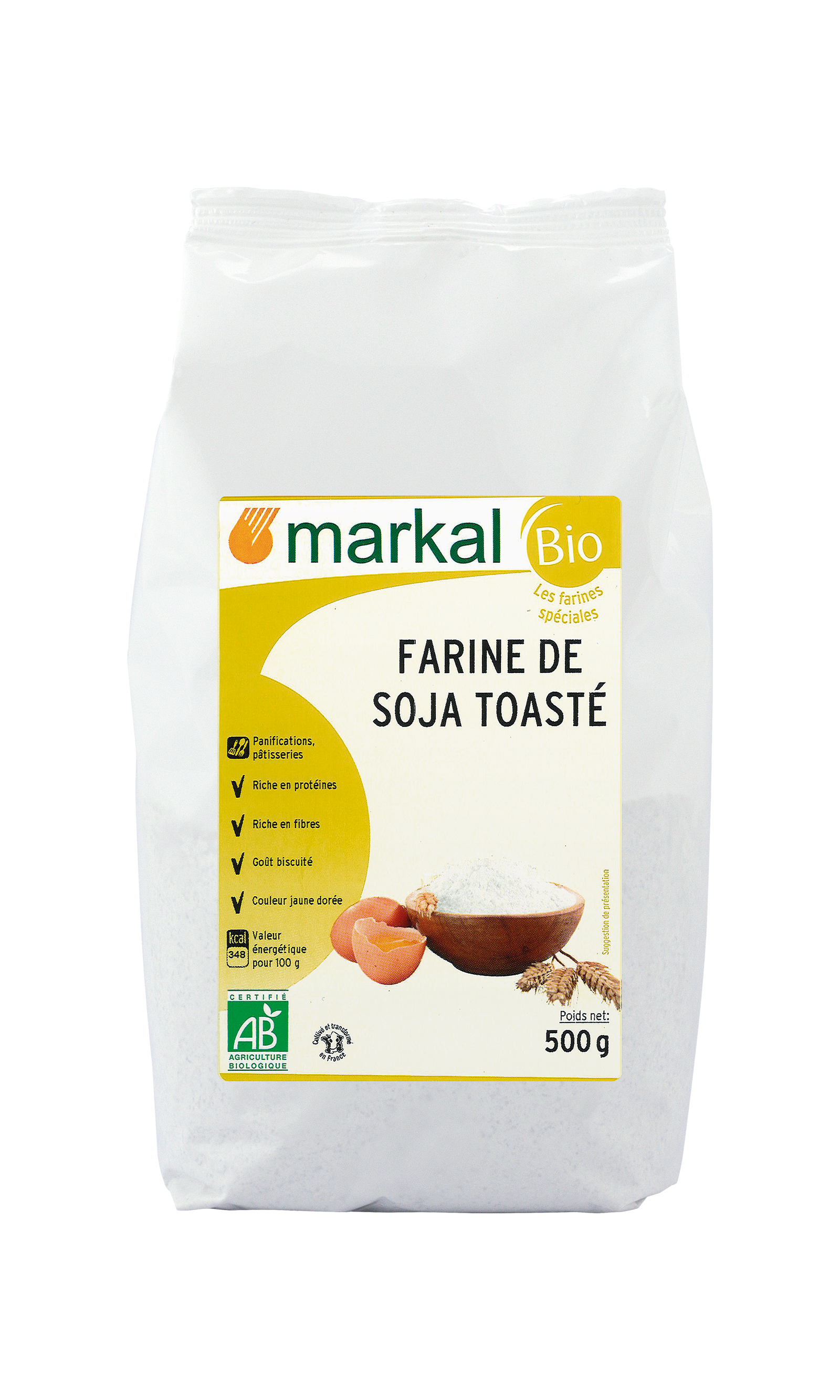 Farine de soja toastée