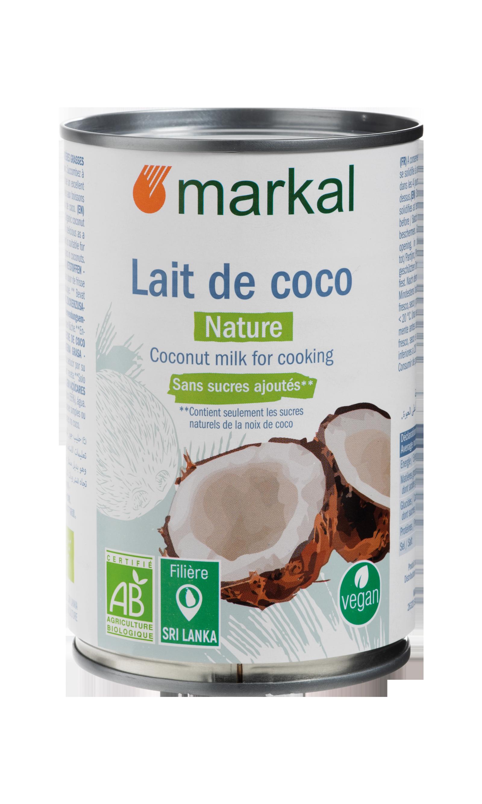 Lait de coco - sans gomme de guar