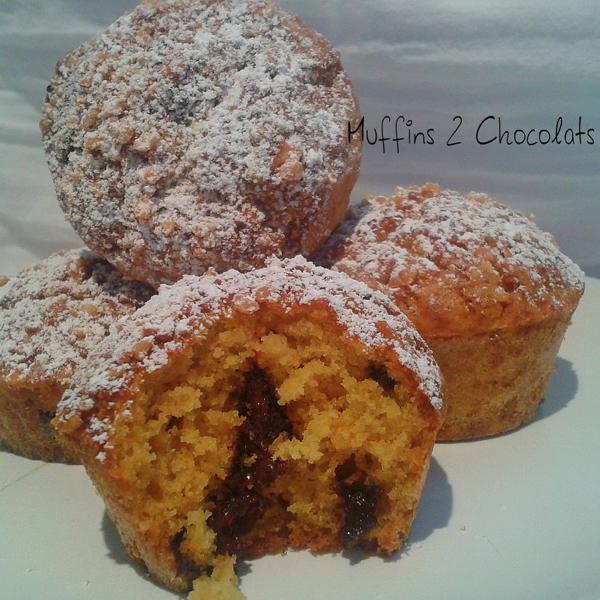 Muffins aux 2 chocolats et farine de riz