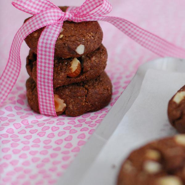 Cookies noisette et cacao sans gluten
