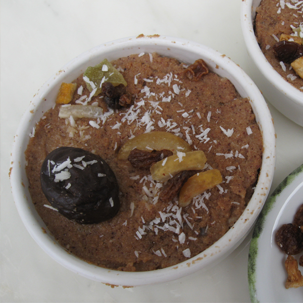 Gâteau aux flocons et aux fruits, façon semoule