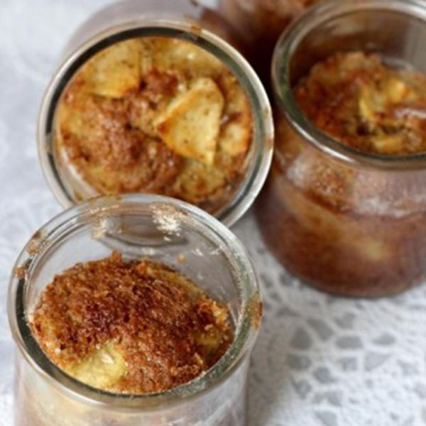 Gâteaux à la farine de souchet et aux pommes