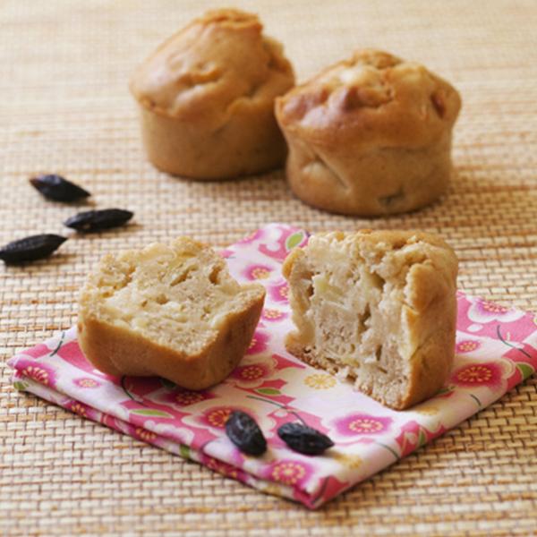 Muffins aux pommes, seigle et fève tonka