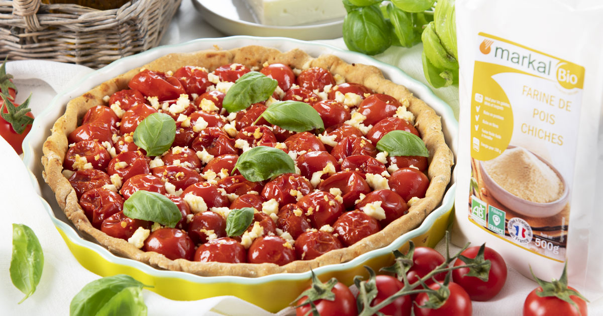 Tarte aux tomates cerises et feta