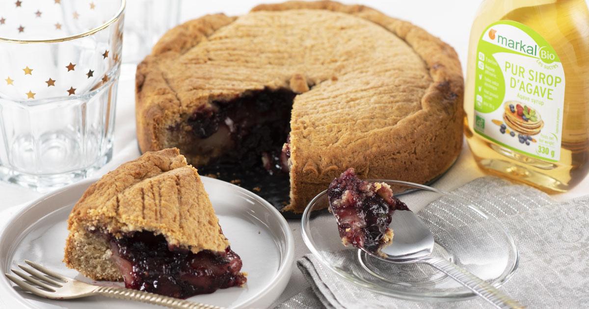 Gâteau basque à la confiture de cassis