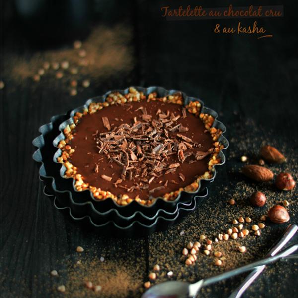 Tartelette vegan au chocolat cru et kasha