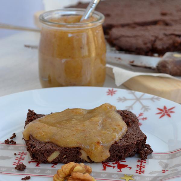Brownies sablés et caramel de dattes