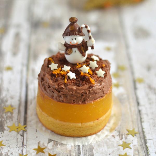 Dessert de Noël, farine de lupin, orange et chocolat