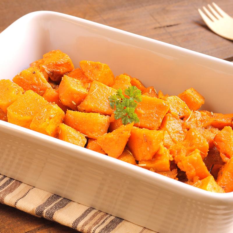 Gratin de patates douces, céleri rave et tofu façon dauphinois