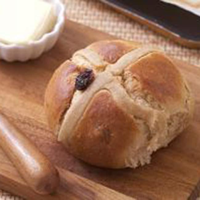 Hot cross buns (briochettes sucrées)