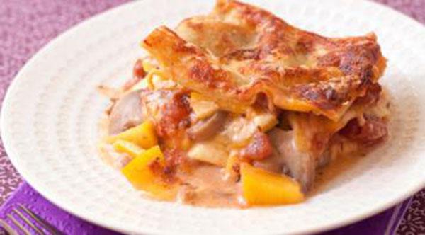 Lasagnes végétariennesButternut, châtaignes et protéines de soja