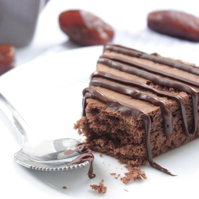 Moelleux chocolat datte cuit à la poêle