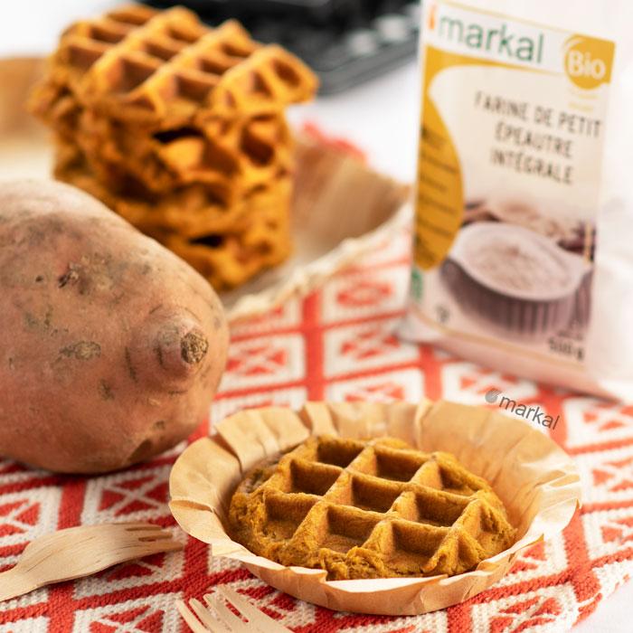 Gaufres liégeoise à la patate douce sans gluten