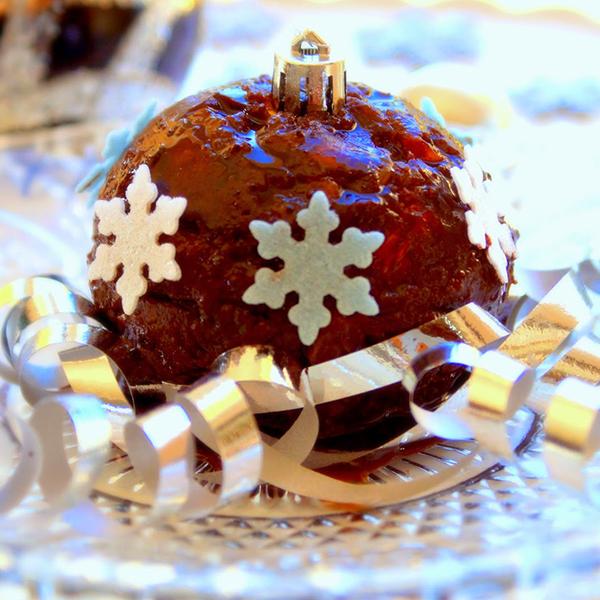 Pudding mendiant de Noël (sans oeuf, ni lait, ni gluten)