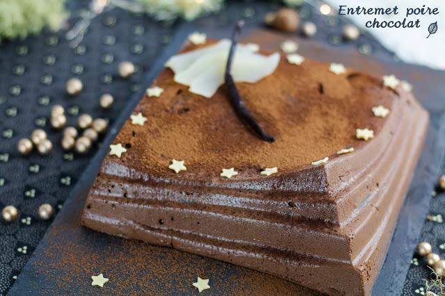 Entremet végétalien poire-chocolat