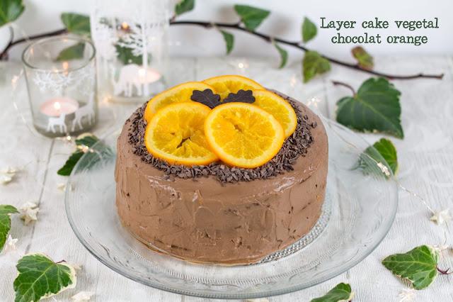 Layer cake sans gluten et végétal chocolat-orange