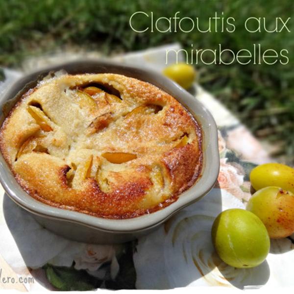 Clafoutis aux mirabelles sans gluten et sans lait