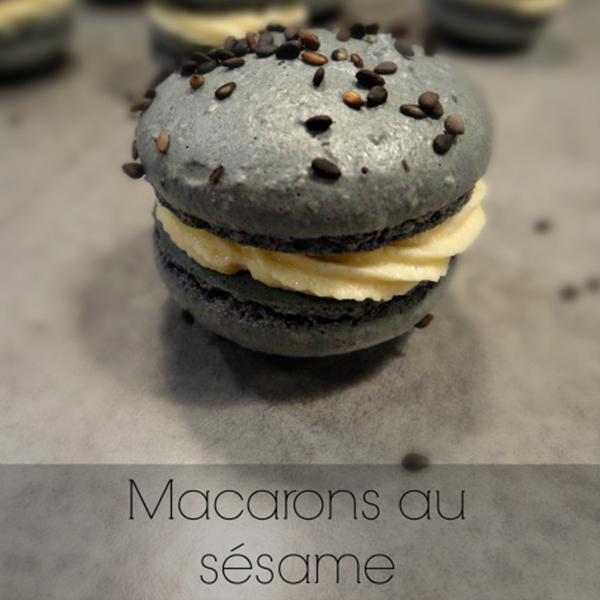 Macarons au sésame (tahin)
