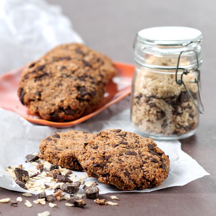 Cookies à la poudre d'amande et chocolat
