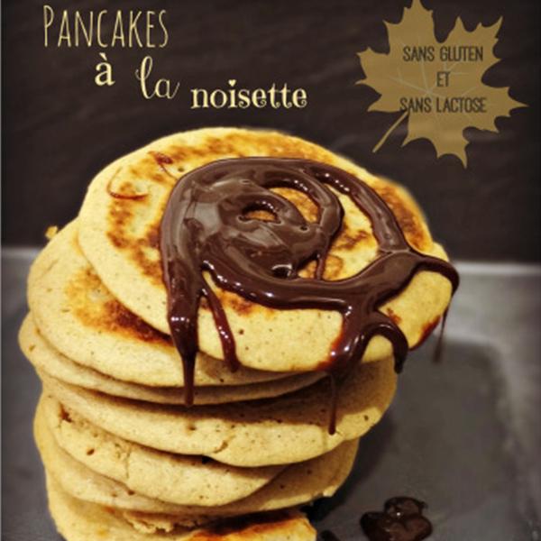 Pancakes à la noisette sans gluten et sans lait
