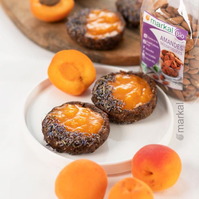 Tartelettes mi crues à la compotée d'abricots