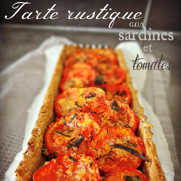 Tarte rustique aux sardines et aux tomates