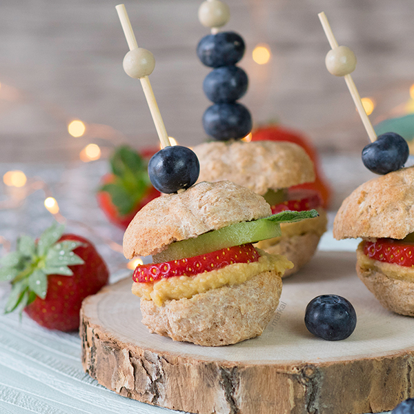 Mini fruitburgers