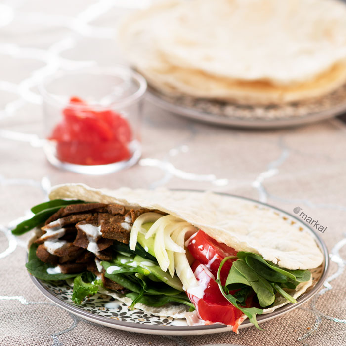Kebab vegan sans gluten