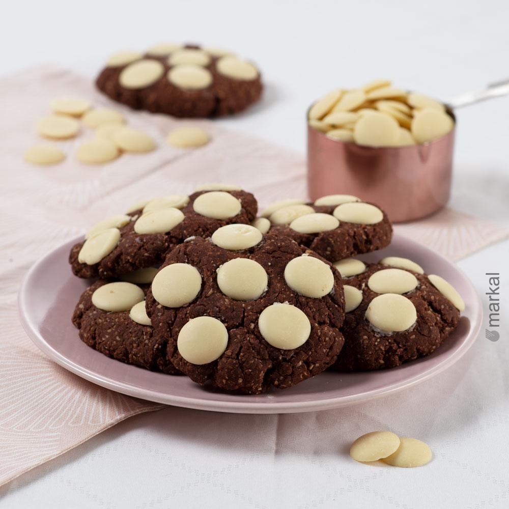 Cookies 100% chocolat noir et blanc