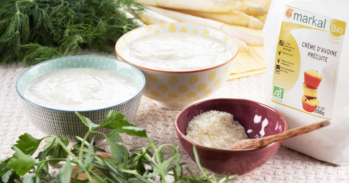 Gaspacho aux asperges blanches et parmesan