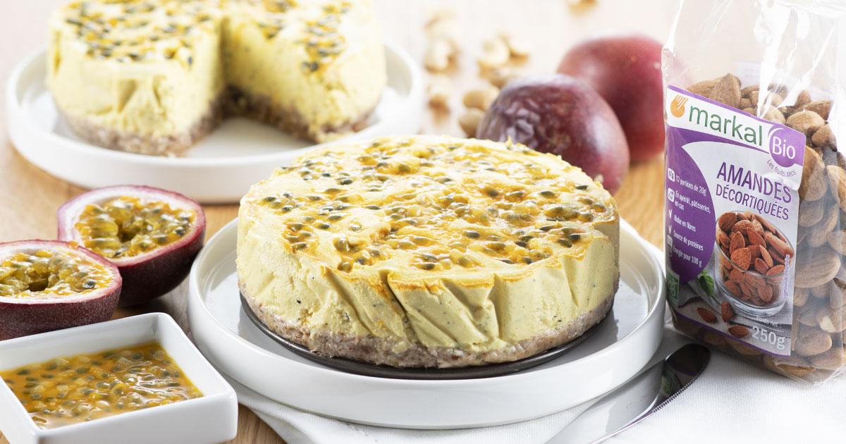 Cheesecake vegan aux fruits de la passion