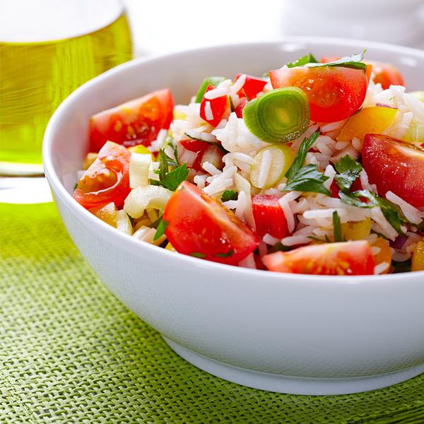 Salade de riz coloré