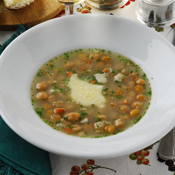 Soupe au blé et aux pois chiches