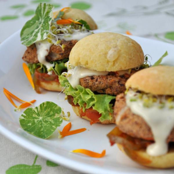 Burgers végétariens à la brésilienne