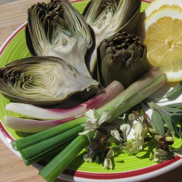 Compotée d'artichauts à la sauge et au citron