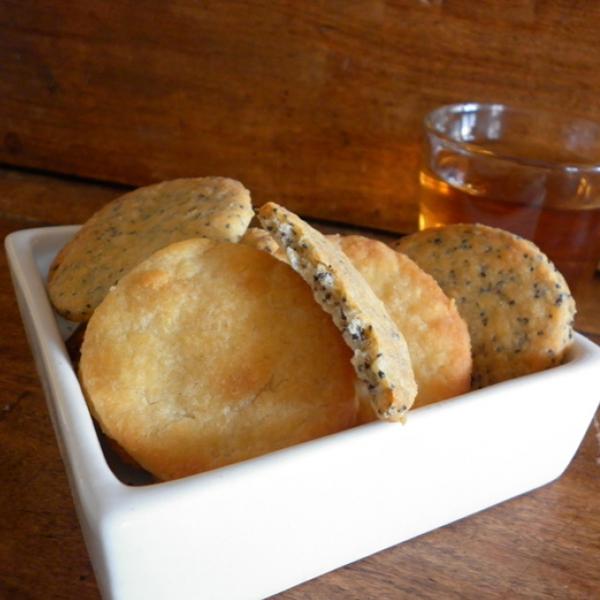 Crackers au gouda et graines de pavot