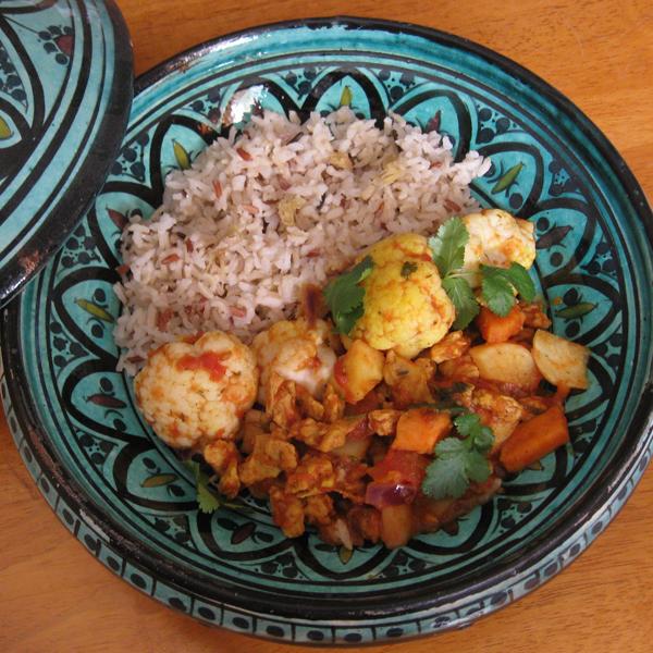 Curry végétarien de légumes d'hiver