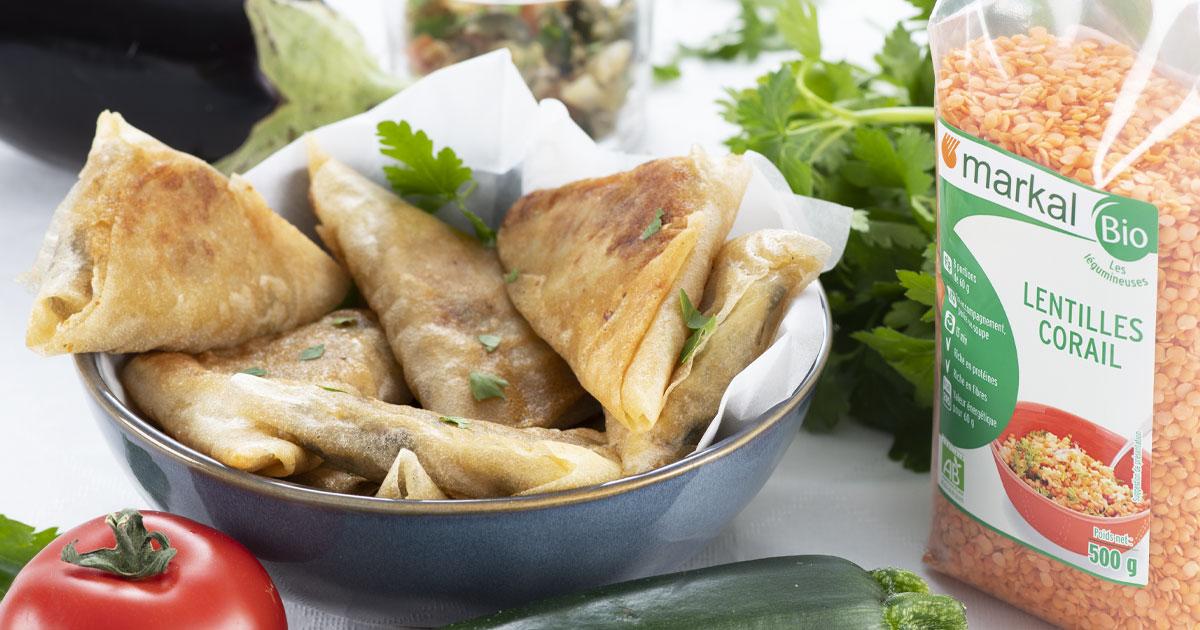Samossas aux légumes de ratatouille