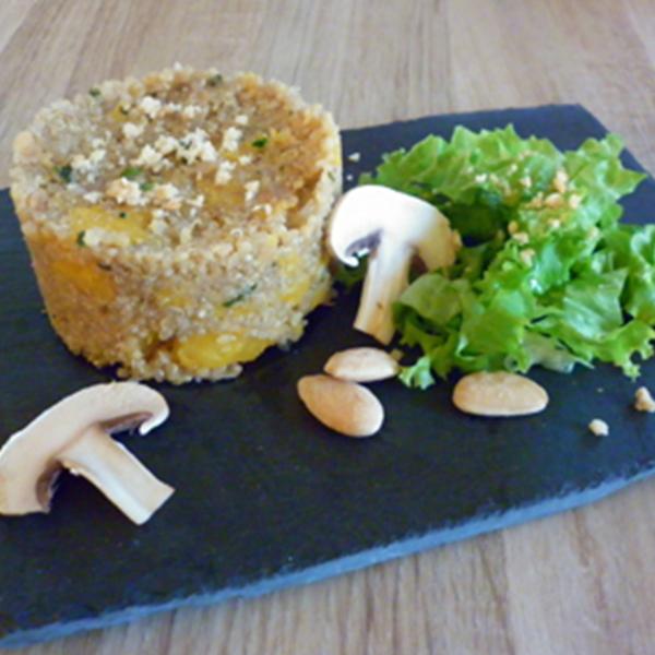 Risotto de quinoa à la courge butternut et aux amandes
