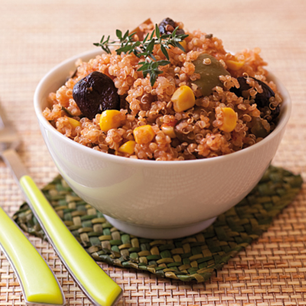 Salade de quinoa à la ratatouille