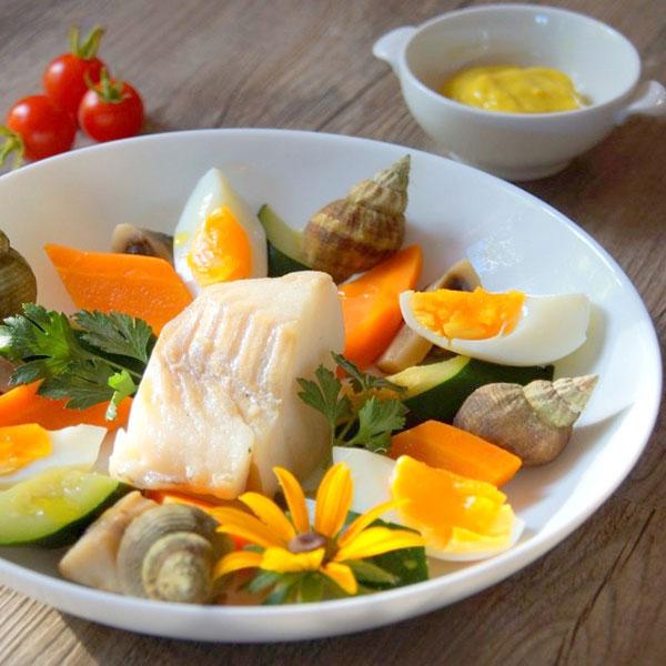 Aïoli aux légumes et cabillaud