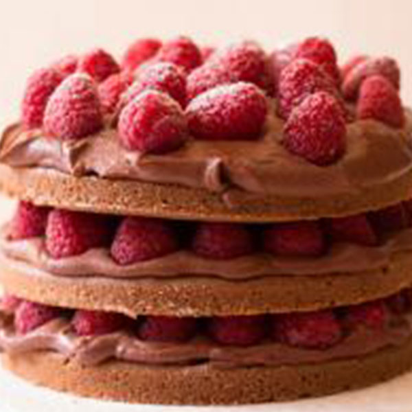 Gâteau chocolat tonka framboises