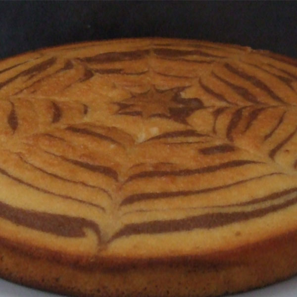 Gâteau zébré au chocolat au lait