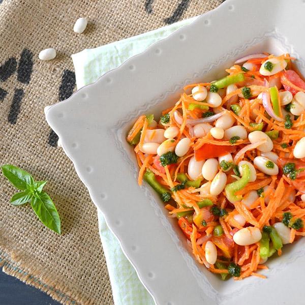 Salade de haricots blancs et carottes