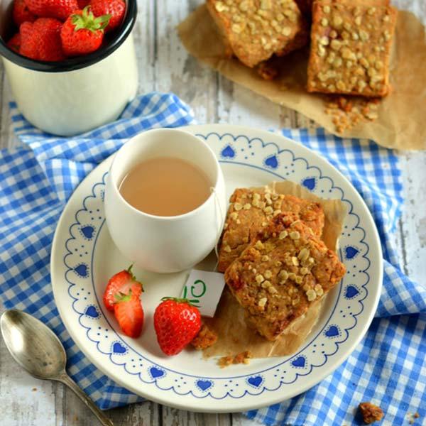 Scones fraises et flocons de sarrasin
